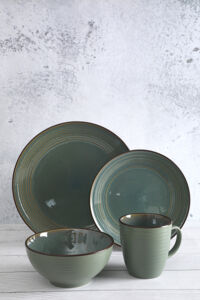 Reactive Embossed  Stoneware